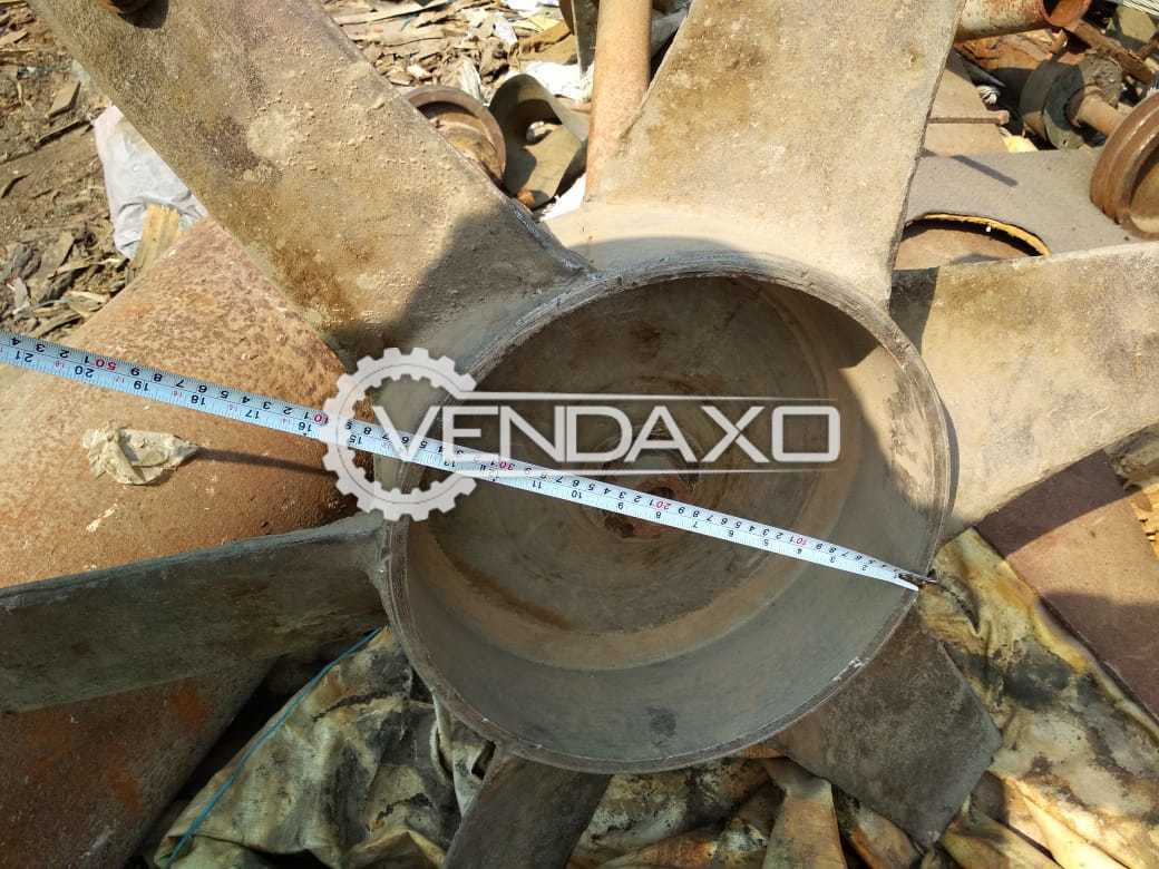 Aluminium Cast Type Axial Fan - Length - 49 Inch Along with bearing and pulley