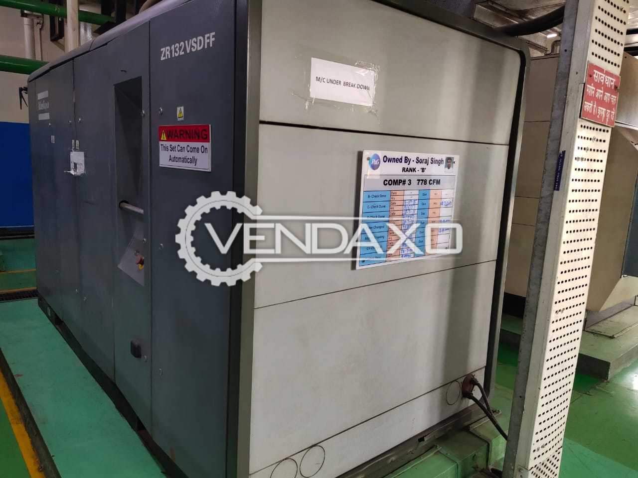 Atlas Copco ZR-132 VSD FF Air Compressor - 132 kW, 2010 Model
