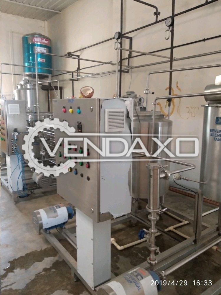Goma Make Fruit Juice Tubular Pasteurizer Machine - 200 Liter Per Hour