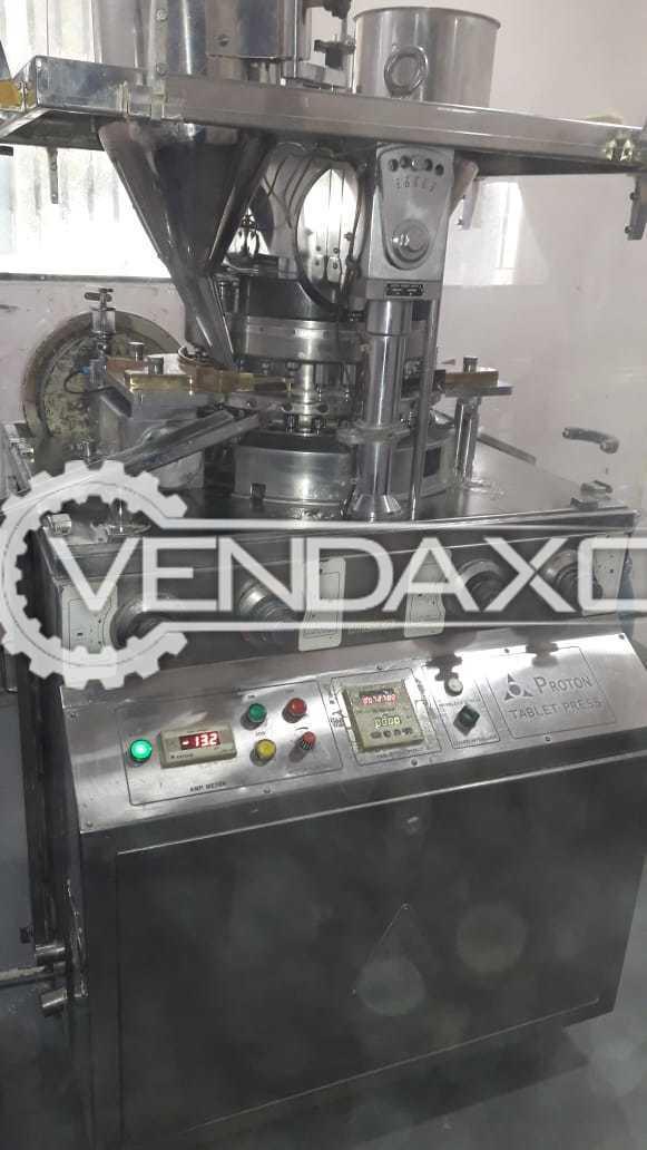 Proton Make 27 D Tooling Tablet Press Machine - 27 Station
