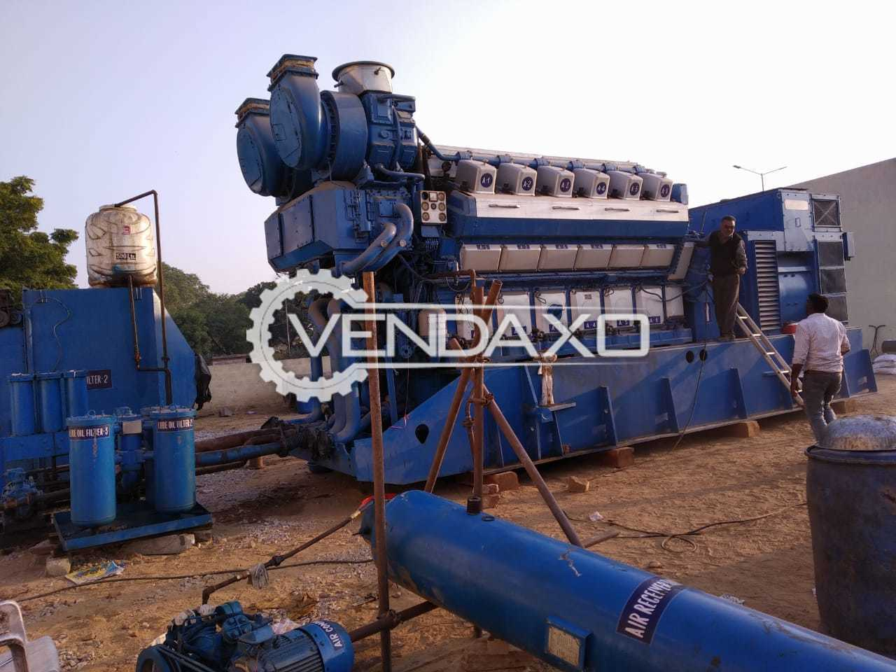 Wartsila 12V32 LN Engine - Power - 4300 KW, 1997 Model