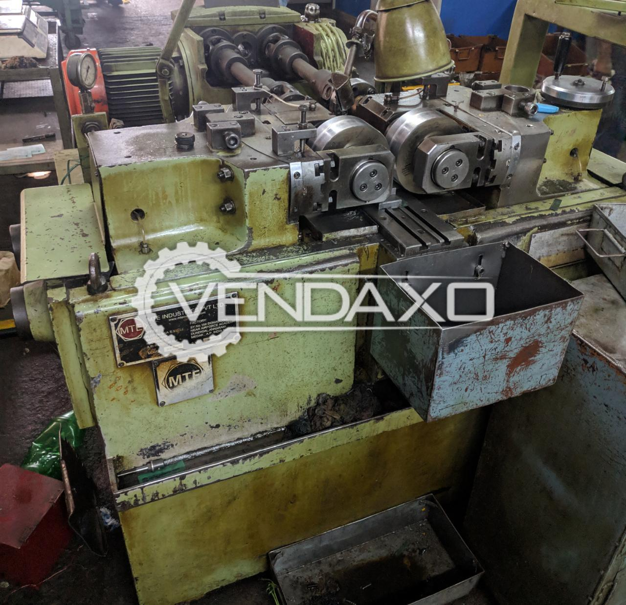 MTE Make Thread Rolling Machine - Max.Rolling Force : 15 Ton, Model 2011