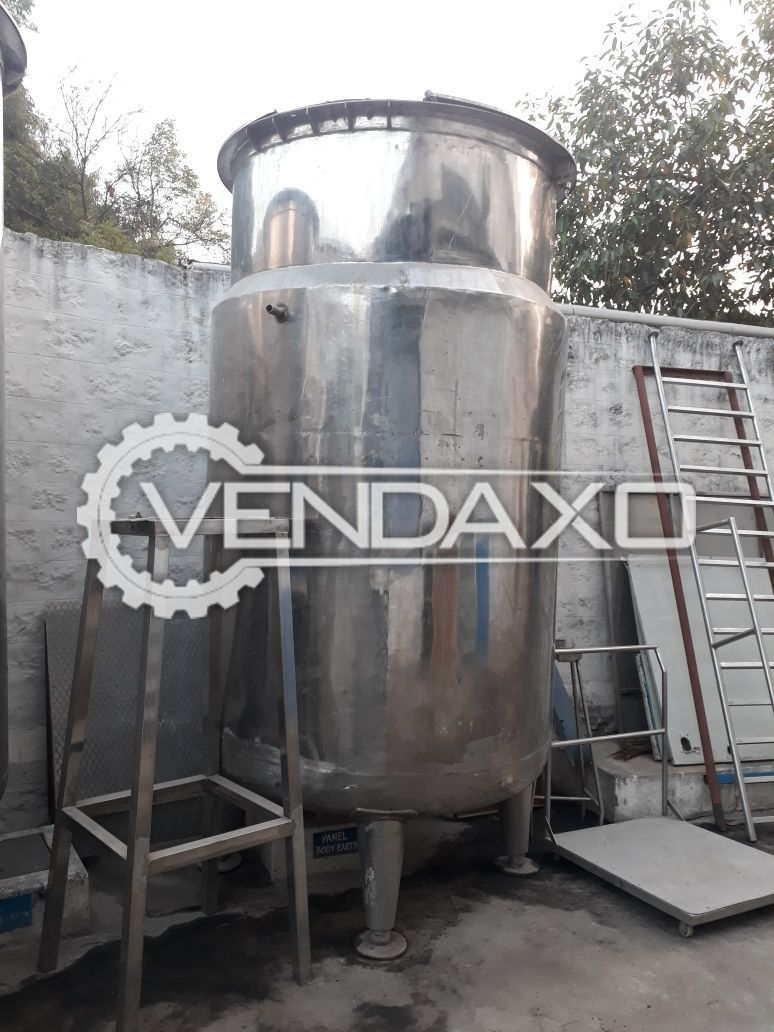Steam Jacketed Tank - SS 316 & SS 304 Contact & Non Contact Parts