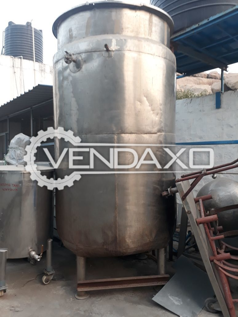 Cooling Jacketed Tank - SS 316 & SS 304 Contact & Non Contact Parts