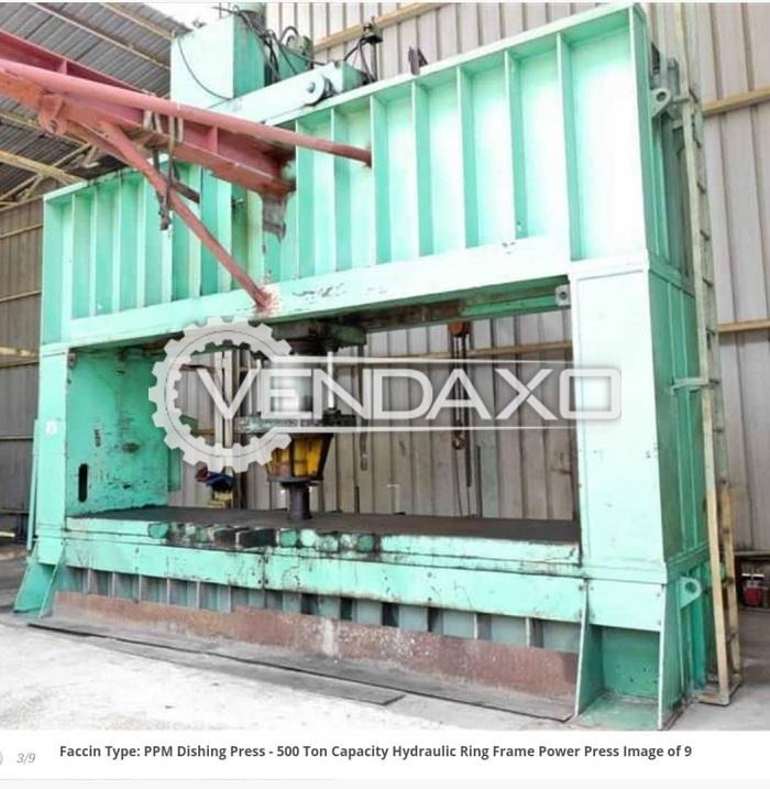 FACCIN Type PPM Dishing Power Press - 500 Ton