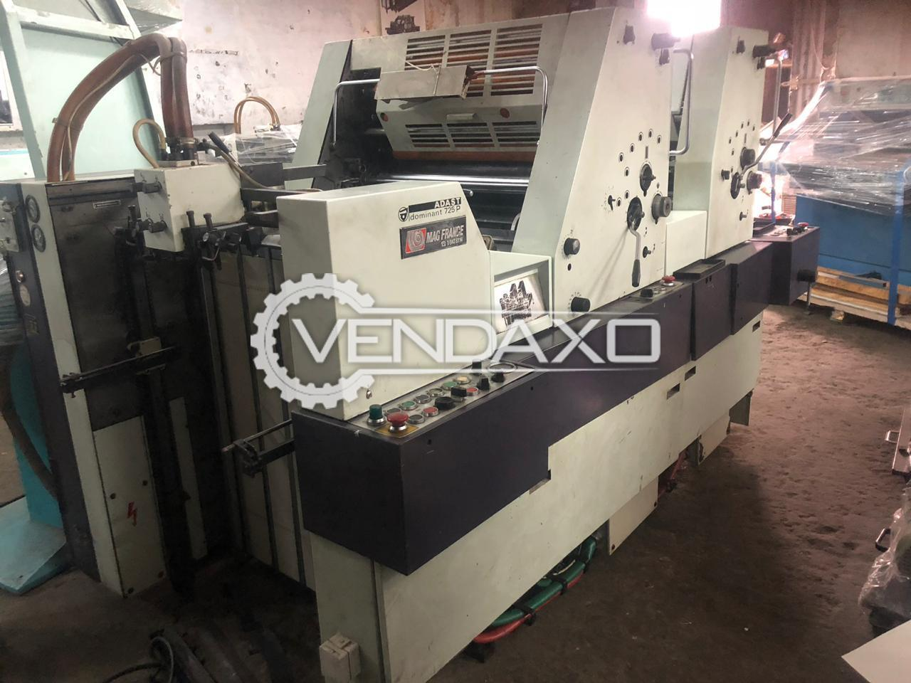 Adast Dominant 725A Offset Printing Machine - 19 x 26 Inch, 2 Color