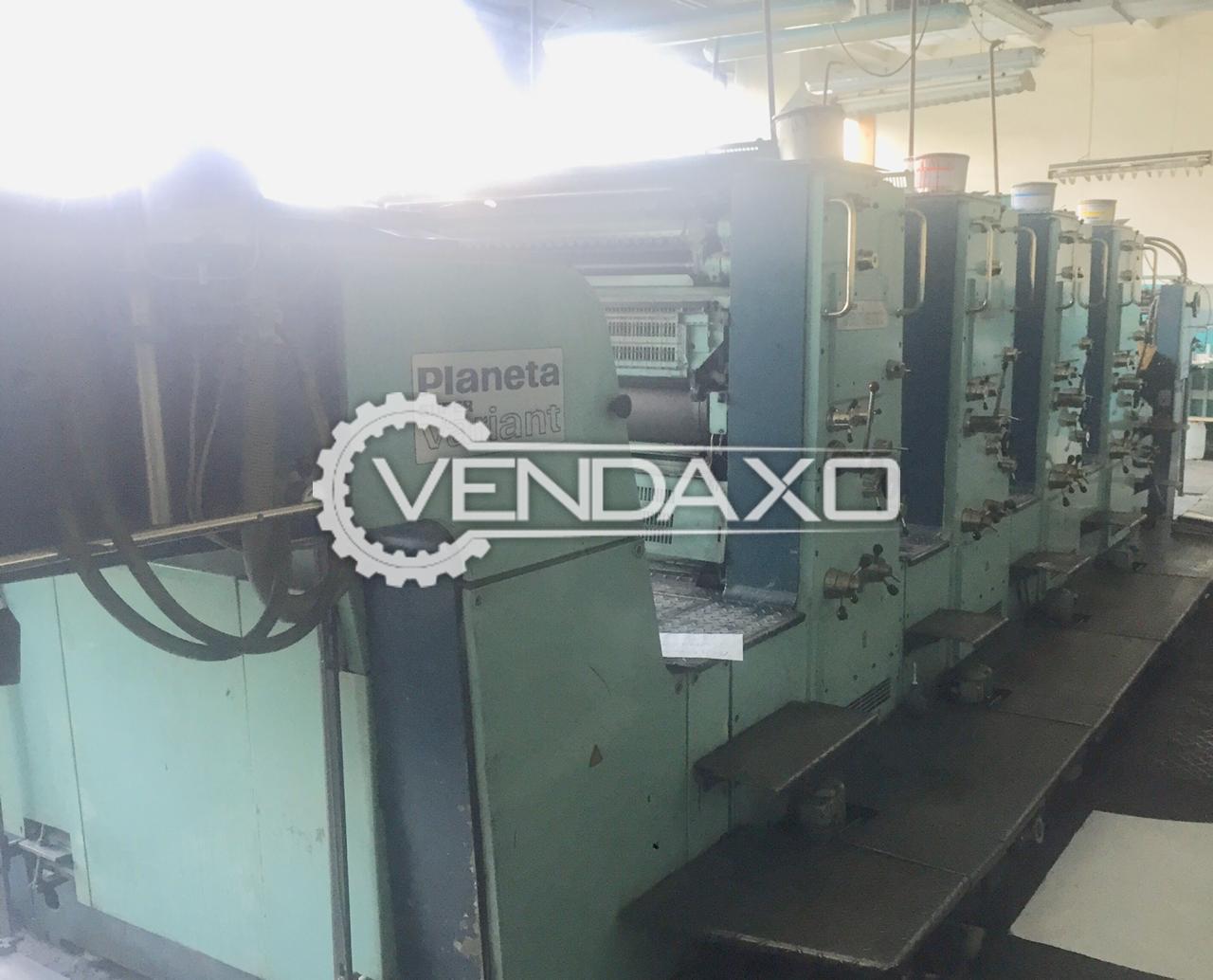 Planeta Super Variant P44-82 Offset Printing Machine - 28 x 40 Inch, 4 Color