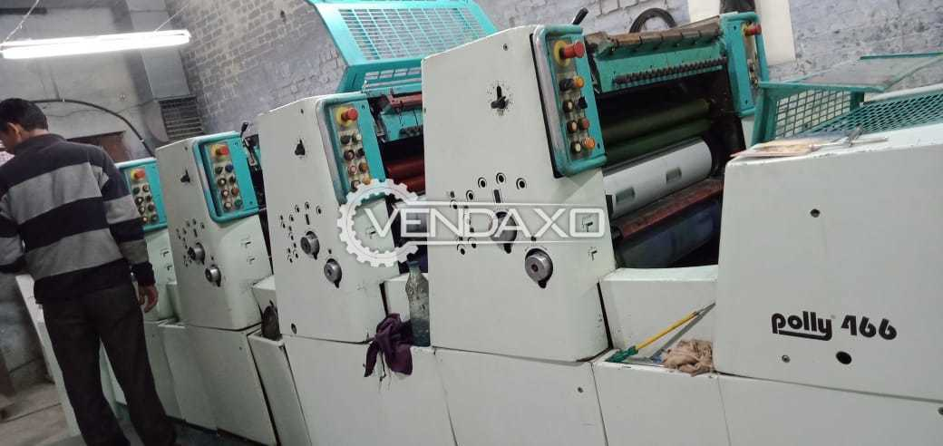 Polly 466 APH Offset Printing Machine - 19 x 26 Inch, 4 Color