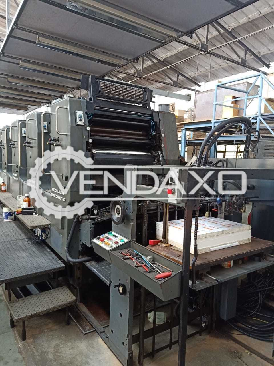 Heidelberg SM 72-FL Offset Printing Machine - 20 x 28 Inch, 5 Color