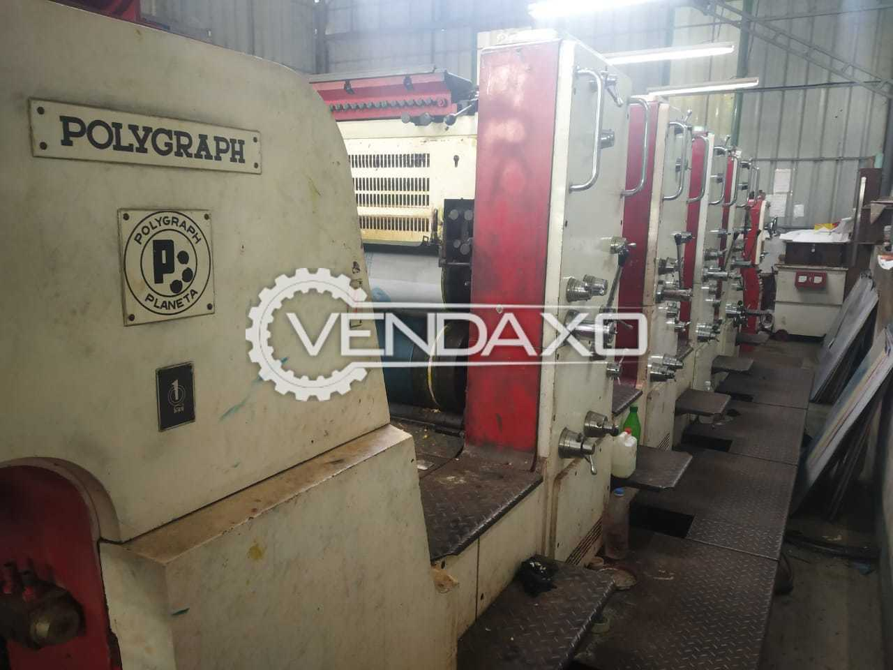 Polygraph Variant Offset Printing Machine - 28 x 40 Inch, 4 Color