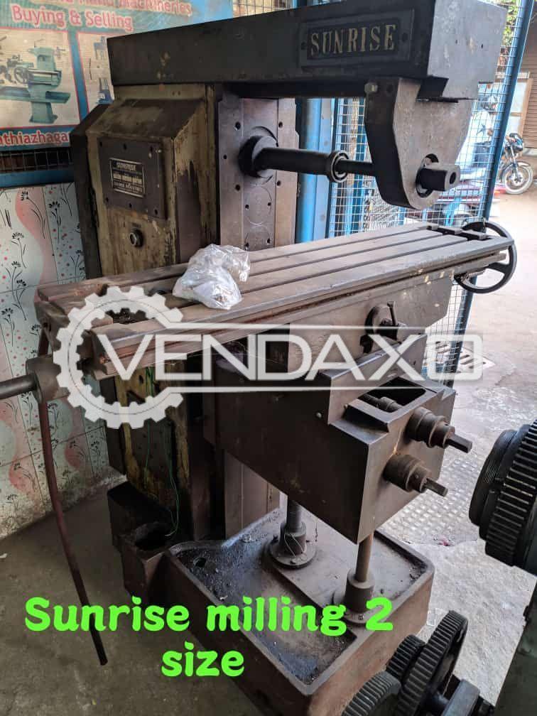 Sunrise Make Milling Machine - Size No.2