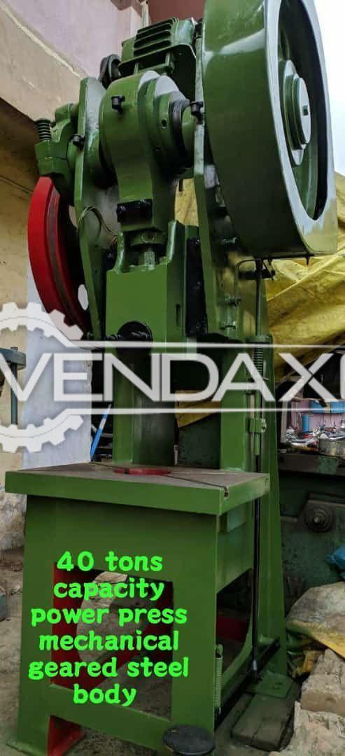 Indian Make Mechanical Power Press Machine - 40 Ton