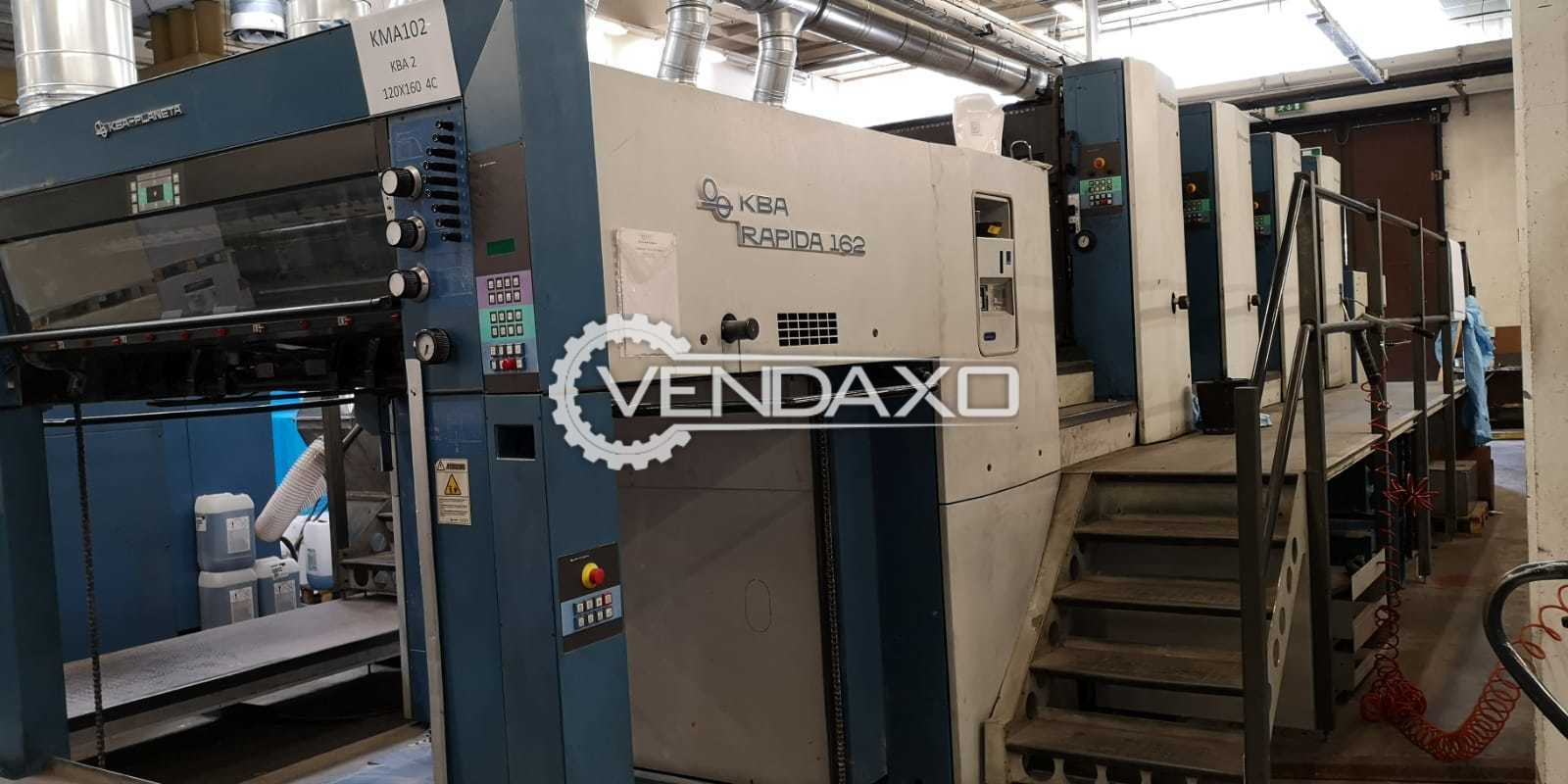 KBA Rapida 162 A4 SW2 Offset Printing Machine - 120 x 162 CM, 4 Color