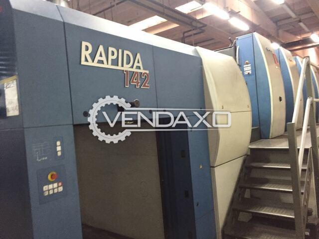 KBA Rapida 142-4 SW2 Offset Printing Machine - 102 x 142 CM, 4 Color