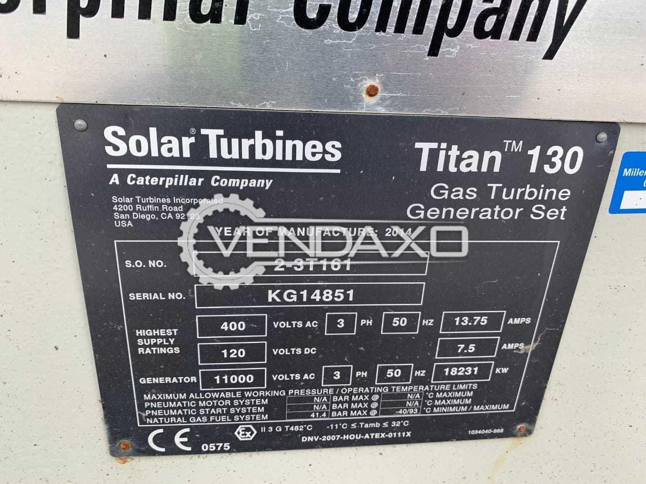 Caterpillar Titan 130 Solar Gas Turbine Generator - 17 MW