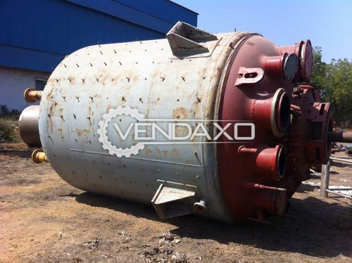 Glass Lined Reactor 30 KL- 1800 x 10 mm With MS Jacket