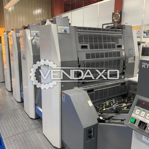 Ryobi 684 Offset Printing Machine - 19 x 26 Inch, 4 Color