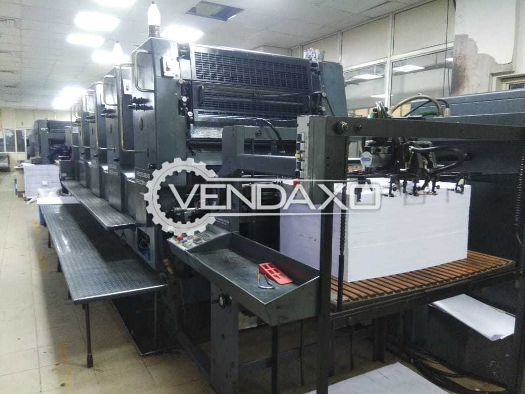 Heidelberg SM 102 Offset Printing Machine - 28 x 40 Inch, 4 Color