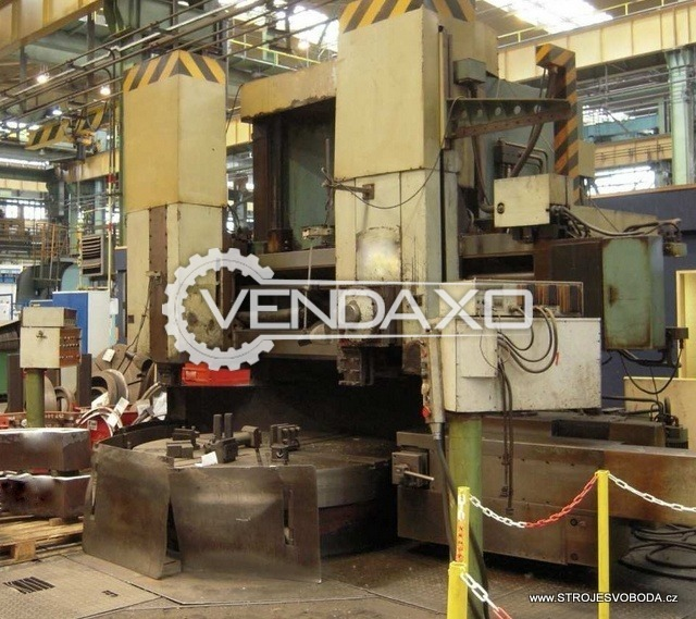 TOS SKJ 20A Vertical Turret Lathe Machine - VTL - Chuck Size : 2000 mm
