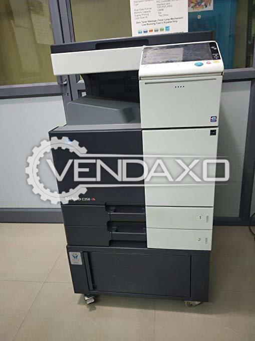 Konica Minolta C258 Digital Color Printing Machine - Speed - 25 PPM