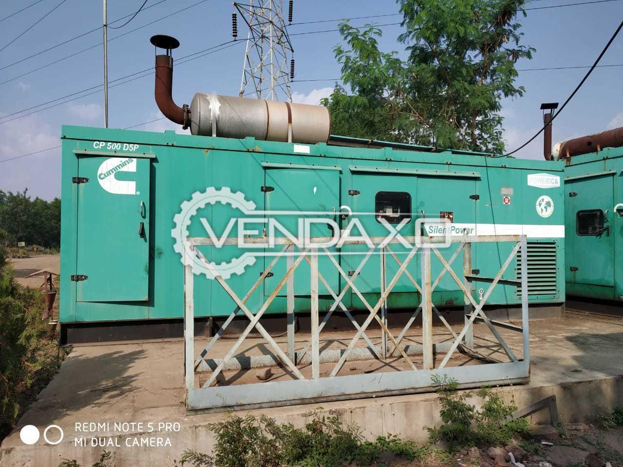 2 Set OF Cummins CP500D5P Diesel Generator - 500 Kva