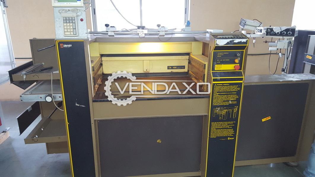 Bierrebi TA 106 Automatic Lace Cutting Machine - 2012 Model With Robotic Arm Device
