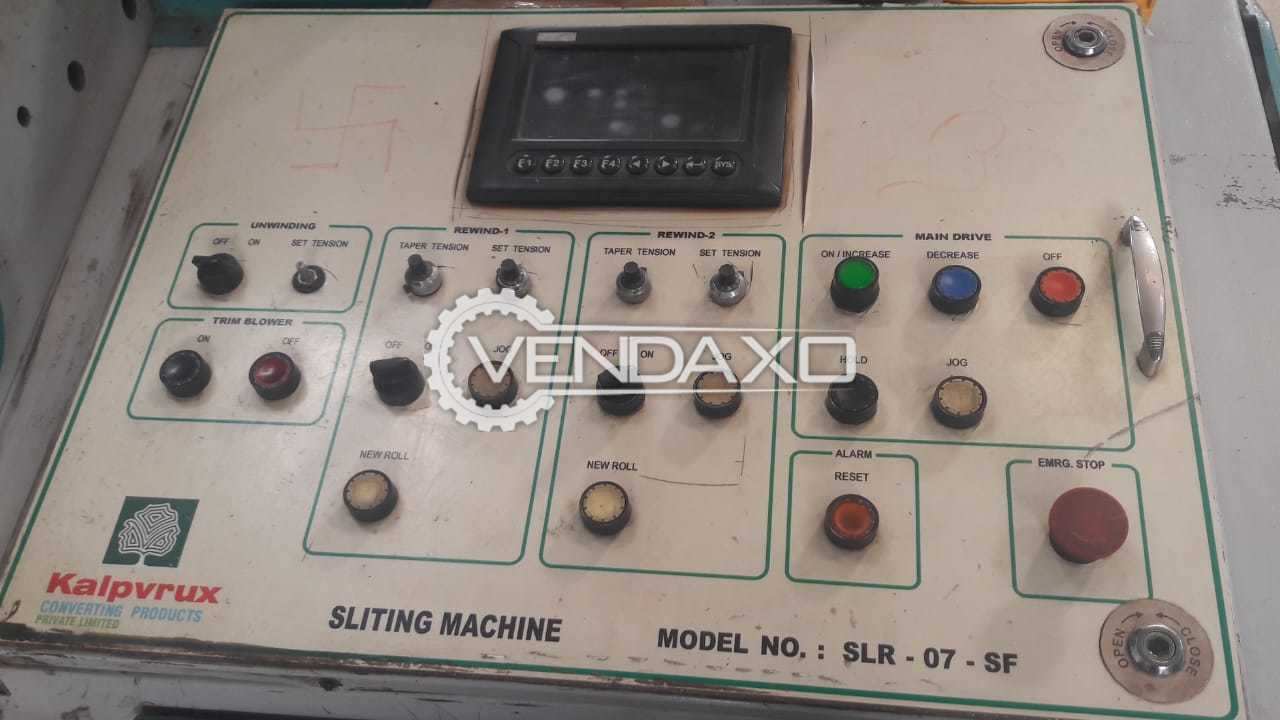 Kalpvrux SLR 07 Slitting Machine - Width - 1600 mm