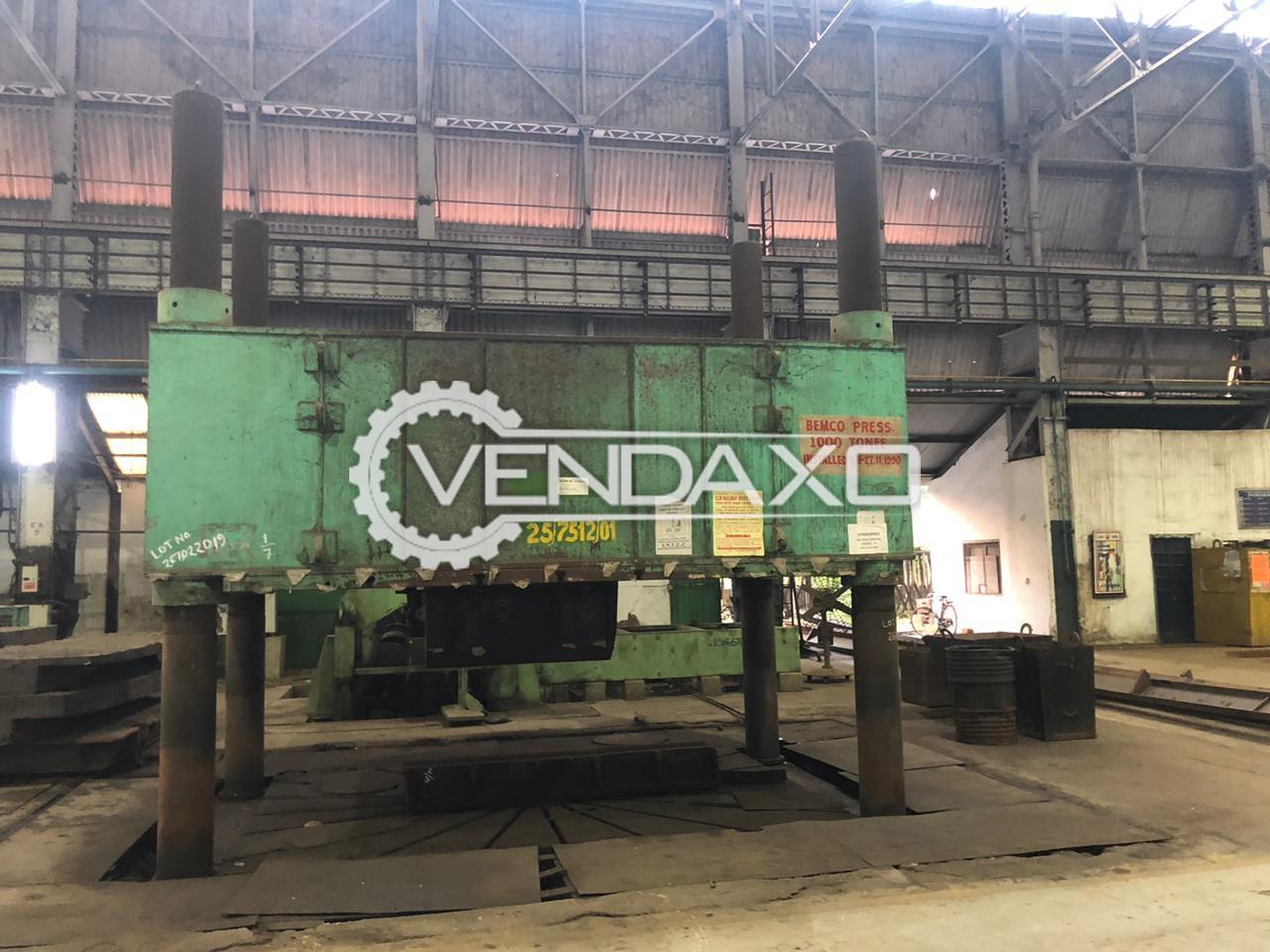 Bemco Hydraulic Power Press - 1000 Ton