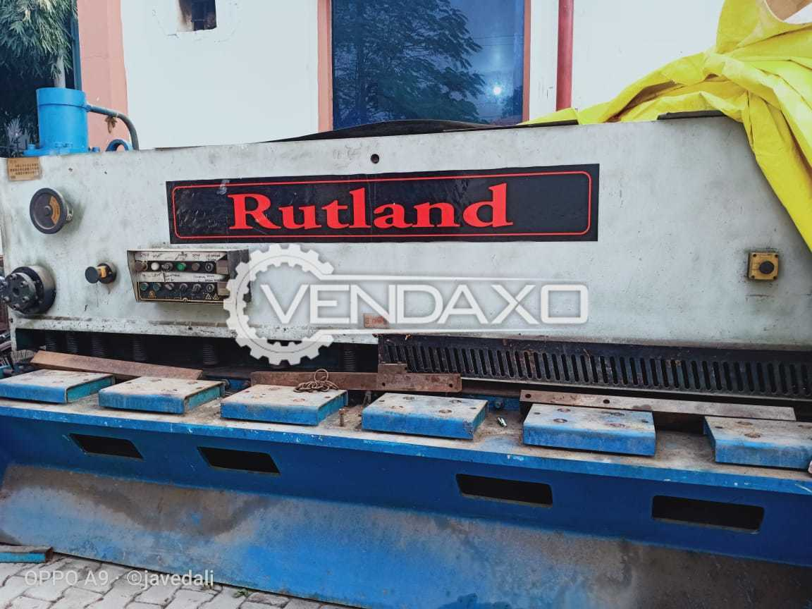 Rutland Make Shearing Machine - Capacity : 3200mm x 3mm