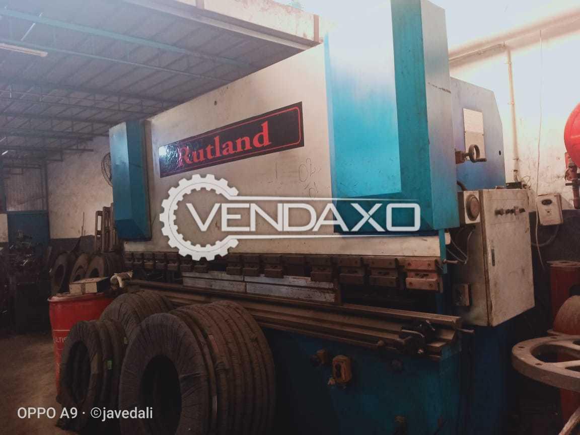 Rutland Make Press Brake Machine - Capacity : 3200mm x 100 Ton