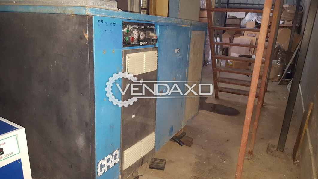 CRA 75/8 Rotary Screw Air Compressor - 1992 Model