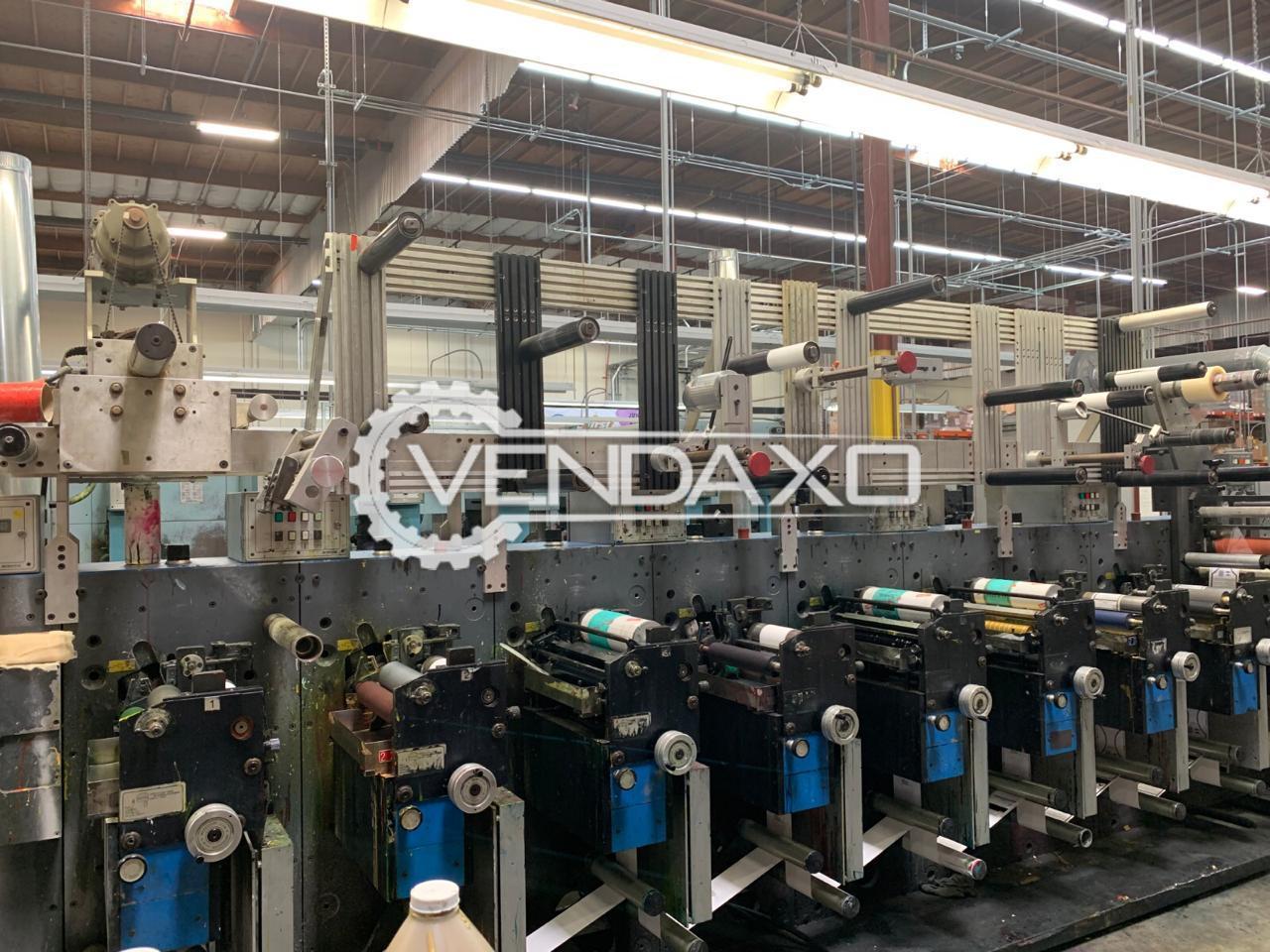 Gallus EM 280 Flexo Printing Machine - Web Width - 280 mm, 1998 Model