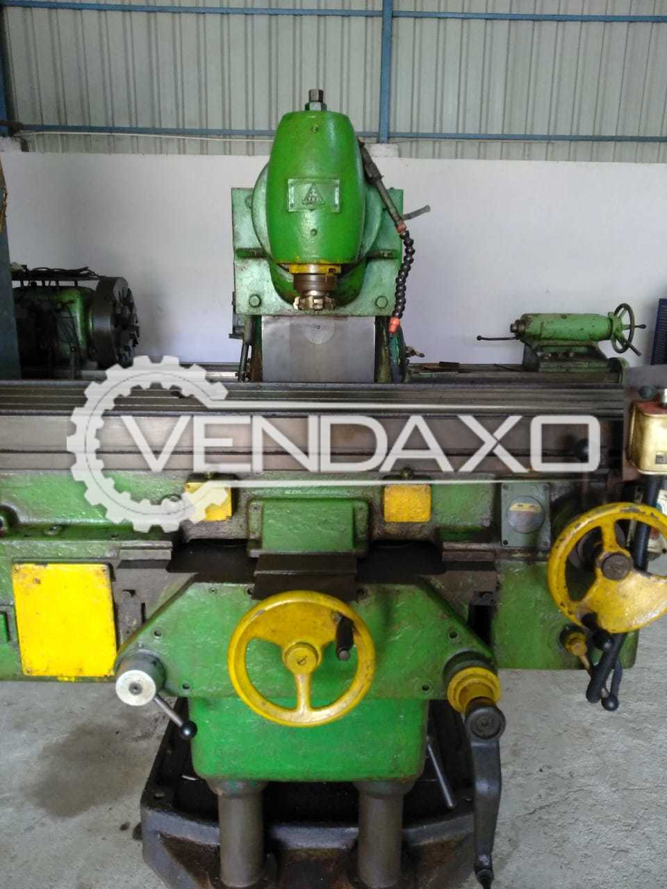 TOS No.5 Universal Milling Machine - Table Size - 2000 x 400 mm