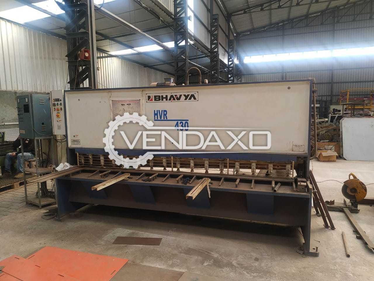 Bhavya HVR 430 Hydraulic Shearing Machine - 3000 x 6 mm