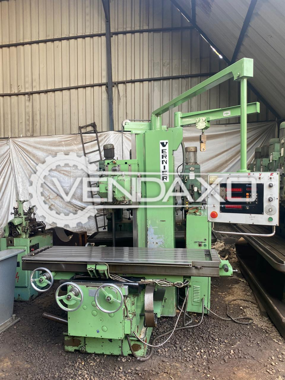 Vernier DB-520 Bed Milling Machine - Table Size : 2000 x 500 mm