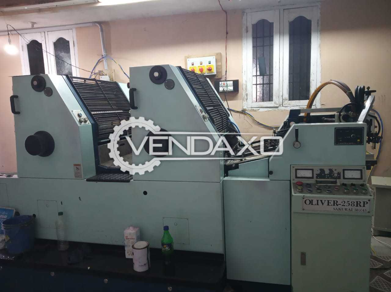 Sakurai Oliver 258 RP Offset Printing Machine - 58 x 45 CM, 2 Color