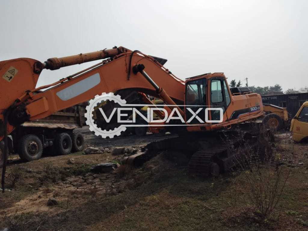 Doosan Solar 500 LC-V Excavator - Engine Power - 312 HP, 2012 Model