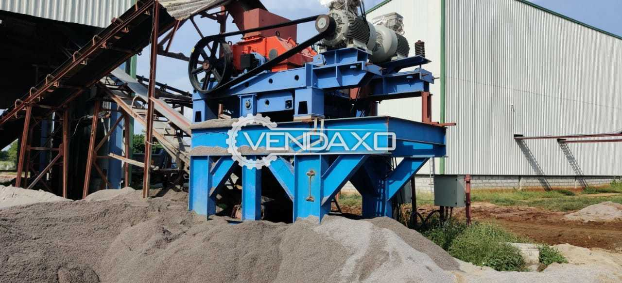 Available For Sale Roller Crusher With Skid - 1000 x 800 mm