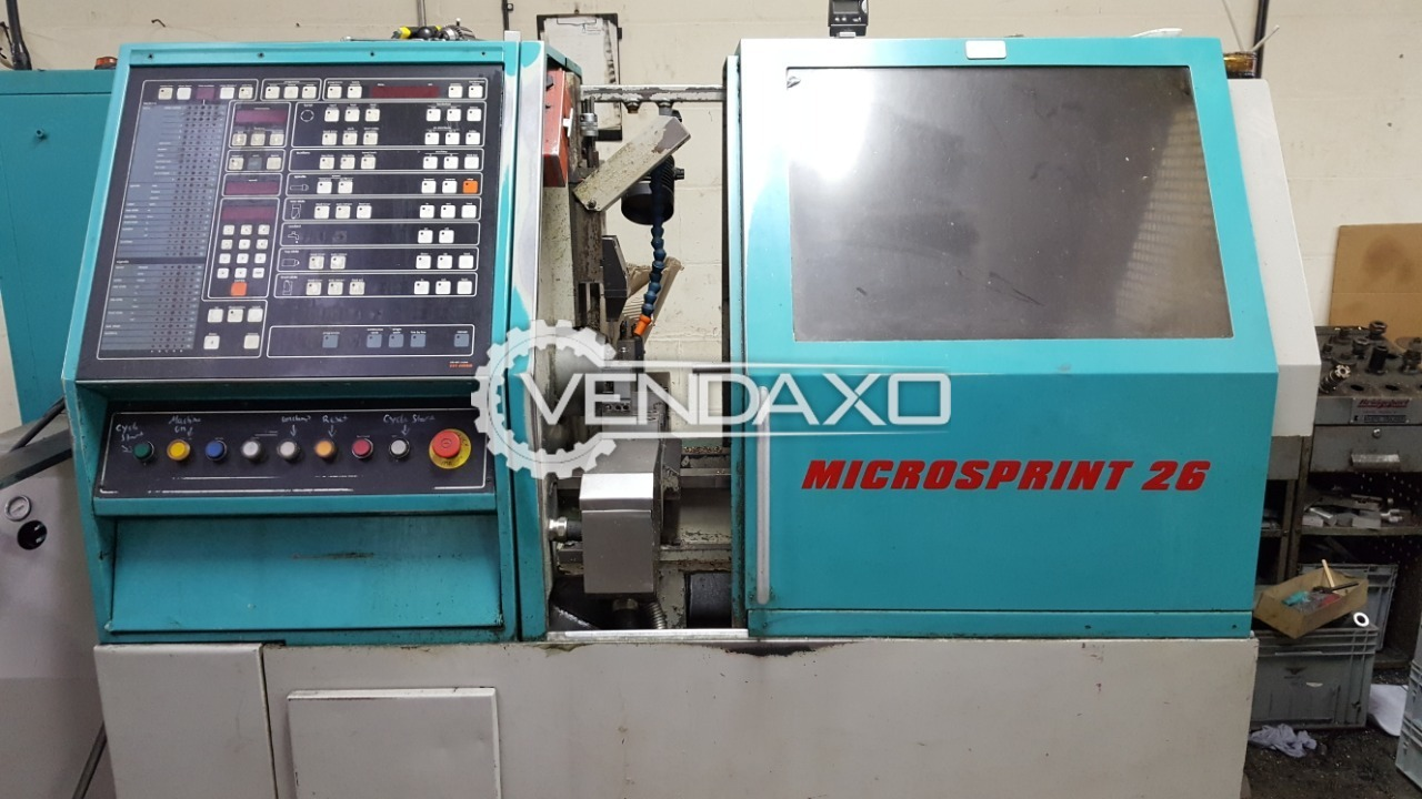 Emi-Mec Microsprint 26 CNC Controlled Automatic Turret Lathe Machine - Bar Capacity : 32 mm
