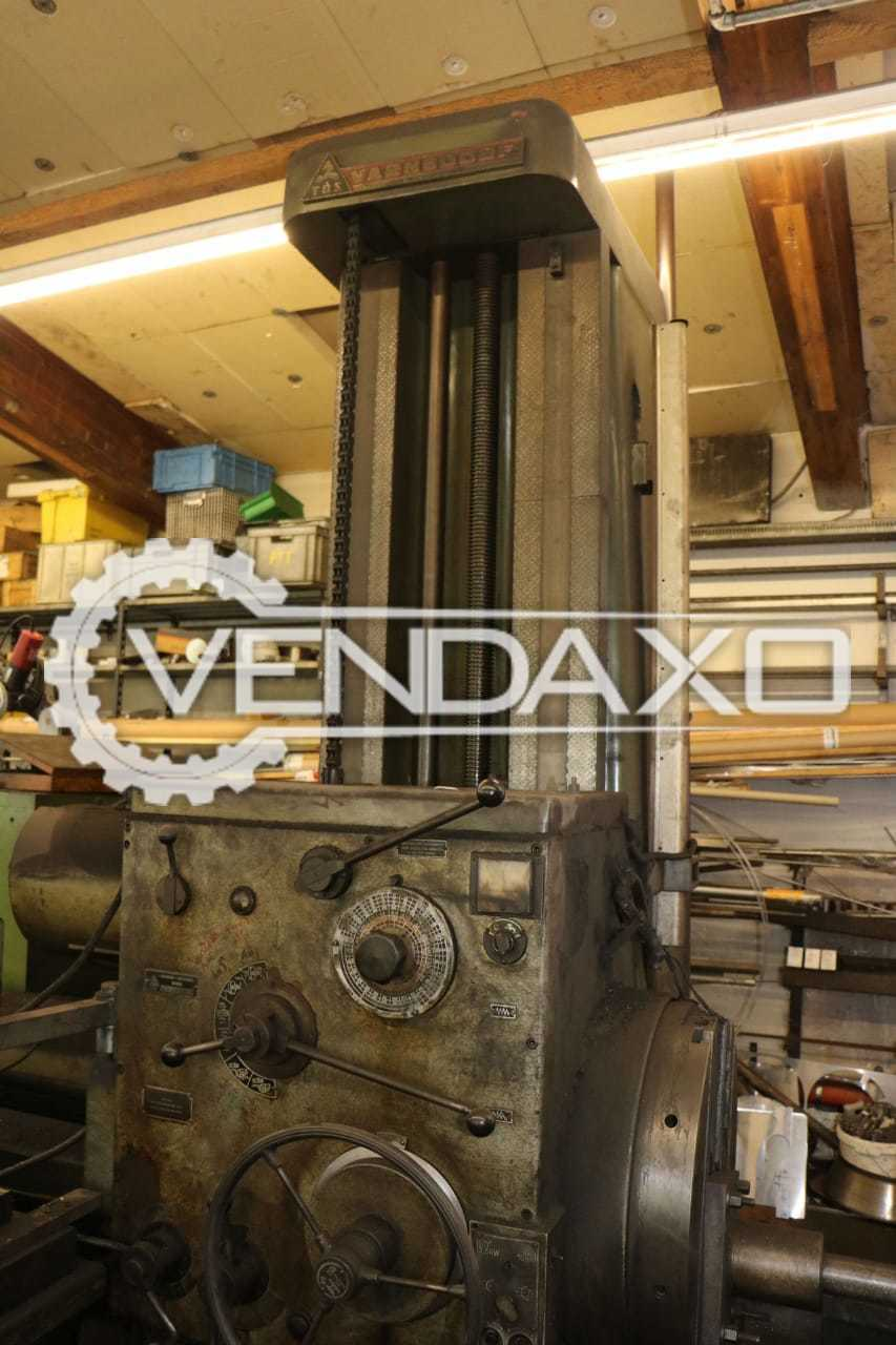 TOS W100 Boring Machine - Table Size : 1250 x 1250 mm