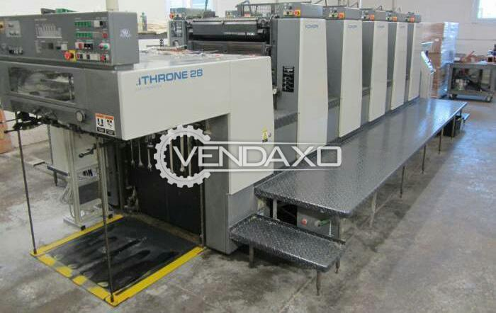 Komori Lithrone 528 Offset Printing Machine - 20 x 28 Inch, 5 Color