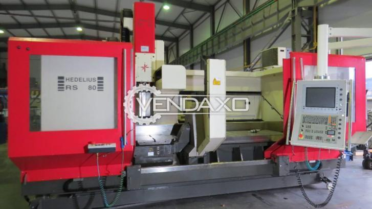 Hedelius Make 5th Axis CNC Vertical Machining Center - Table Size : 1400 x 750 mm