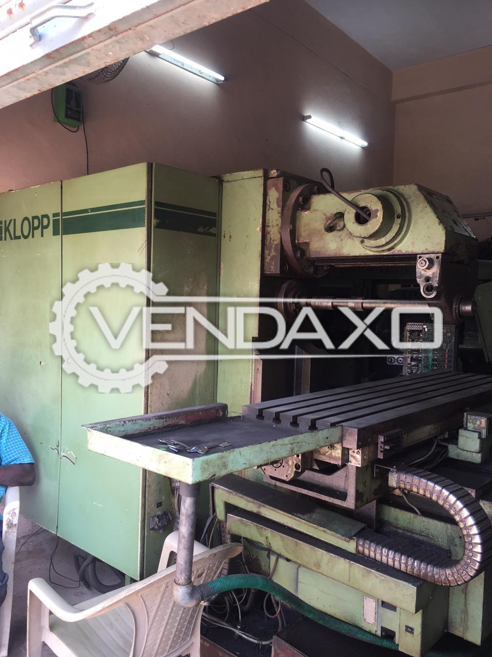 Klopp Make CNC Milling Machine - Size : No.3