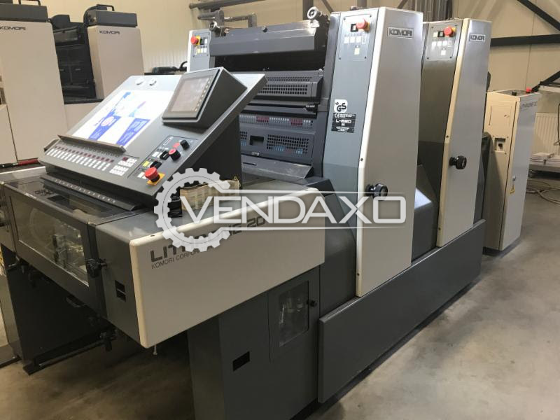 Komori Lithrone 220 Offset Printing Machine - 52 x 37.5 cm, 2 Color