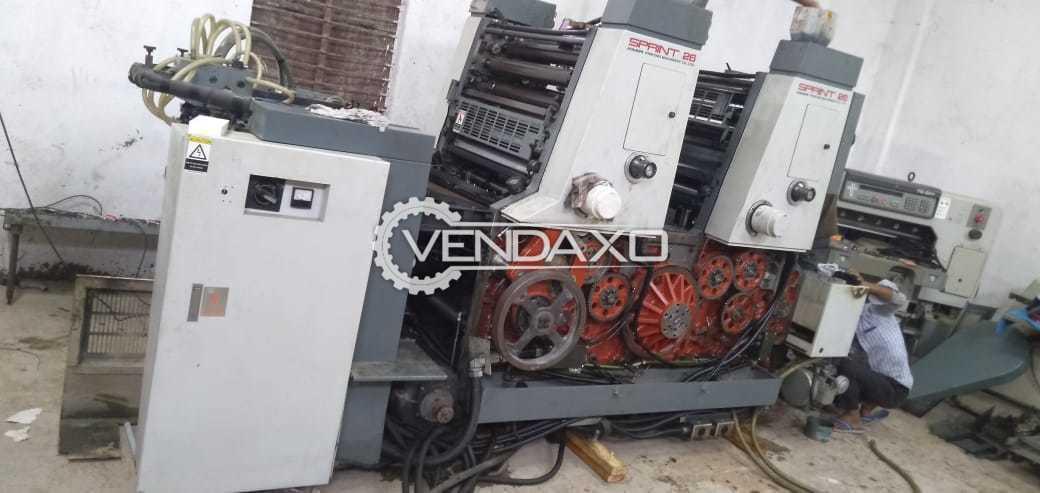 Komori Sprint 226 Offset Printing Machine - 19 X 26 Inch, 2 Color