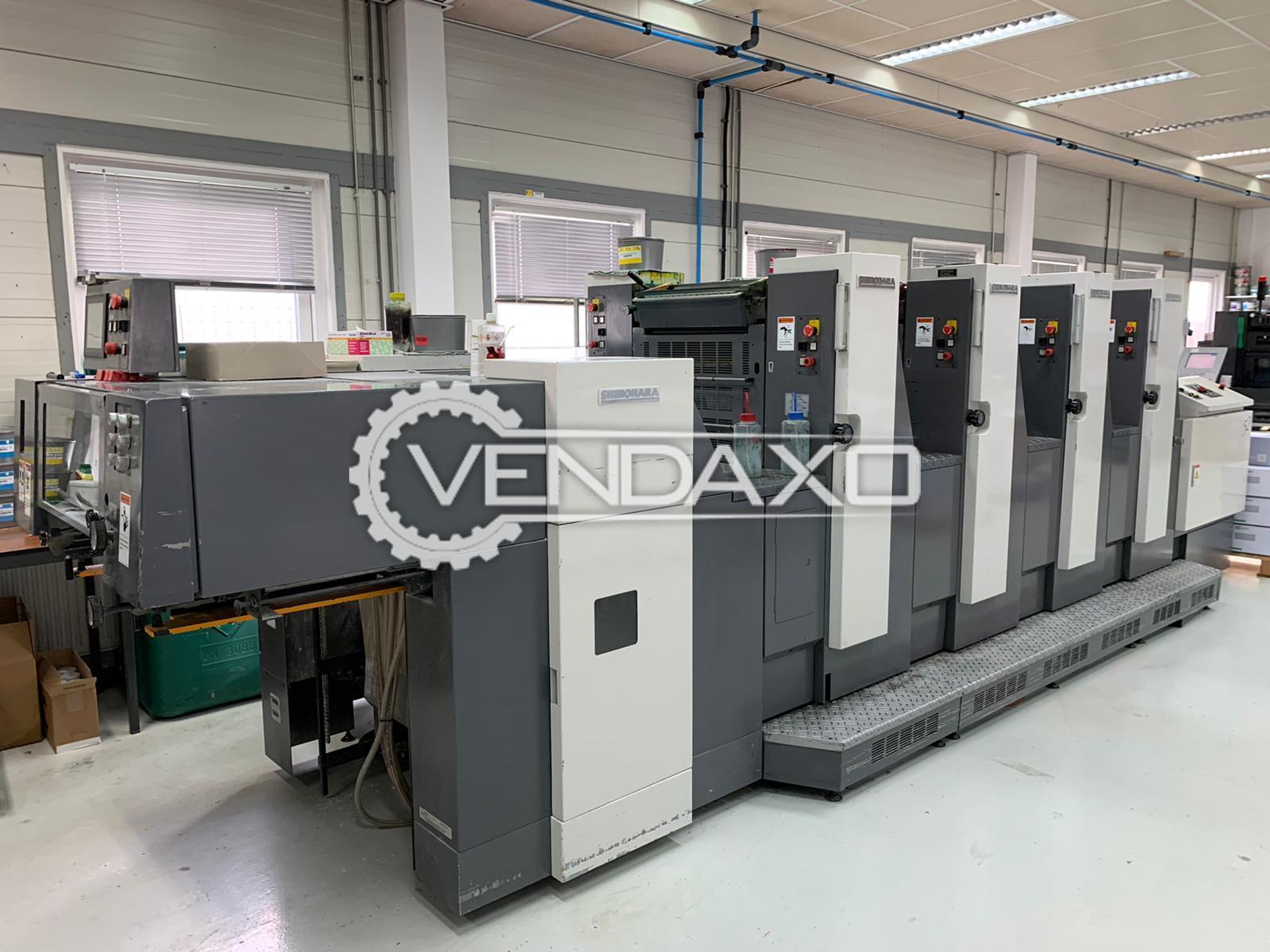 Shinohara 52 IVH Offset Printing Machine - 15 X 20 Inch, 4 Color