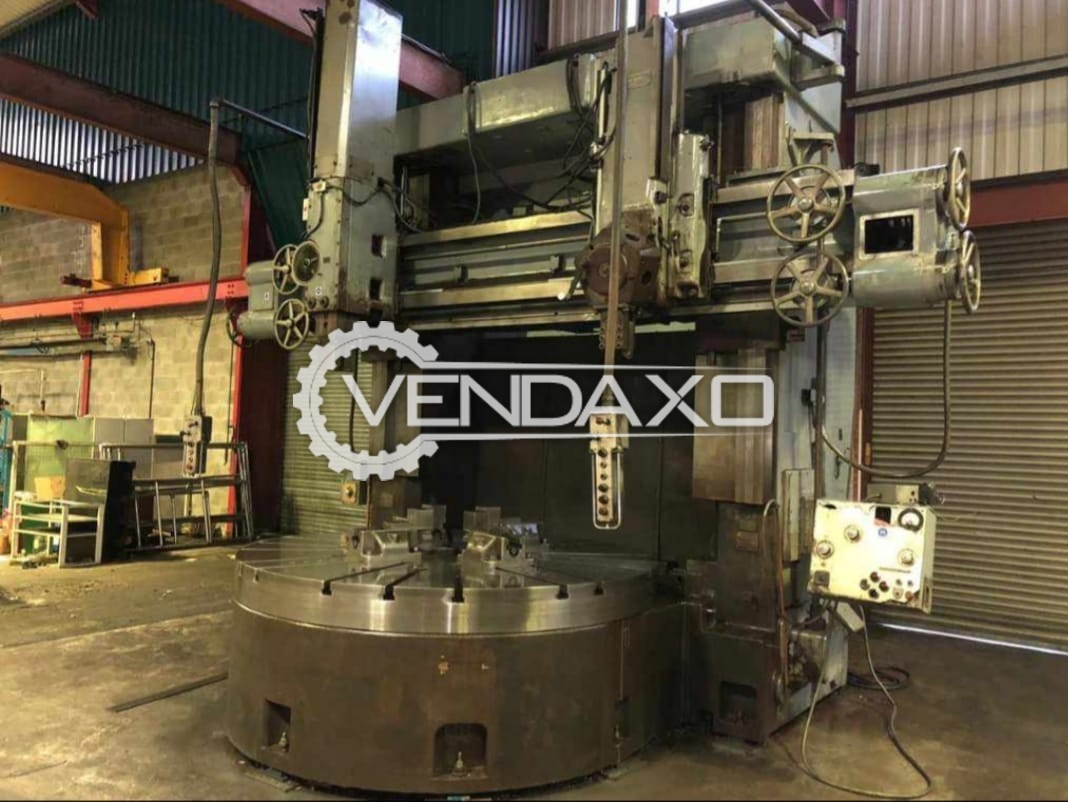 "Webster Bennett Make Vertical Turret Lathe Machine - VTL - Diameter : 96"""