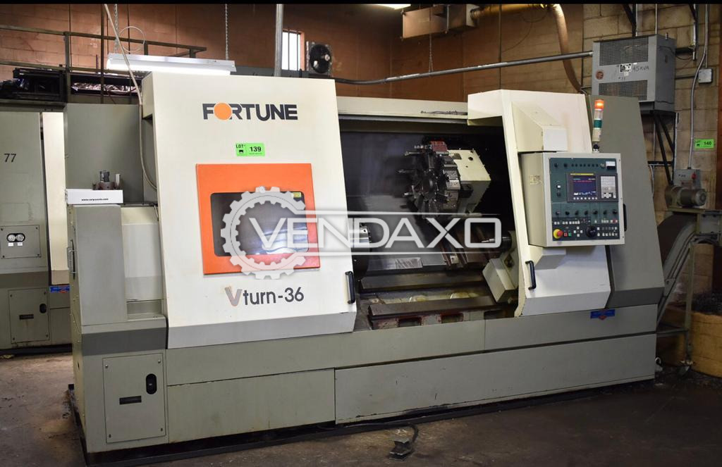 Fortune VTurn-36LSB CNC Turning Center - Chuck Diameter : 450 mm