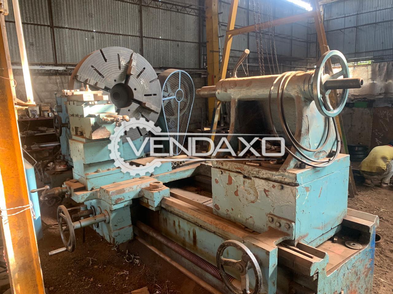 Indian Make Lathe Machine - Length : 2 meter, Center height : 1 meter