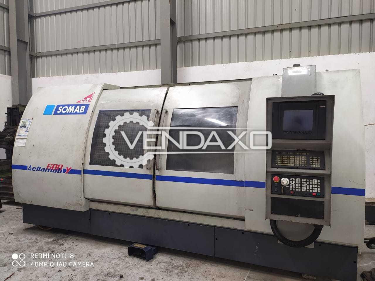 Somab Deltamab 600Y CNC Turn Mill Center - Maximum Swing Diameter : 700 mm